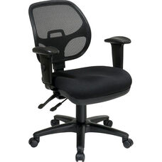 Pro-Line II Ergonomic Task Chair with ProGrid® Mesh Back and Adjustable Arms - Black