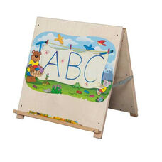Solid Maple Big Book Tabletop Easel with Bracket on Backside - Assembled - 24