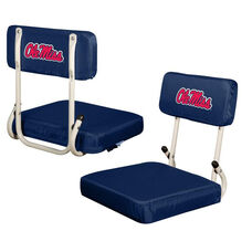 University of Mississippi Team Logo Hard Back Stadium Seat