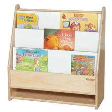 Toddler Book Shelf with Three Shelves on Front and Marker Board on Back - Assembled - 24