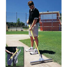 Base Runner Aluminum Rake with Telescopic Handle