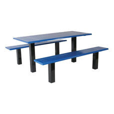 Weatherproof Thermoplastic Finished Rectangular Picnic Table with Two Benches - 72