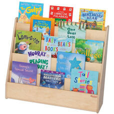 Wooden Flush Markerboard Big Book Display with 5 Sloped Shelves - 30