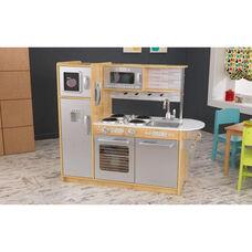Kids Wooden Make-Believe Modern Uptown Kitchen Play Set - Natural