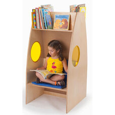 Alone Zone Bookcase with Seating Underneath