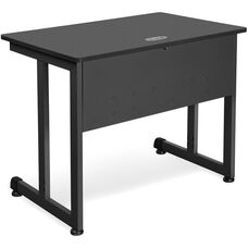23.75'' D x 35.50'' W Modular Training and Utility Table - Graphite Finish