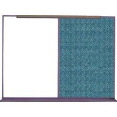 800 Series Aluminum Frame Combination Markerboard and Tackboard - Designer Fabric - 96