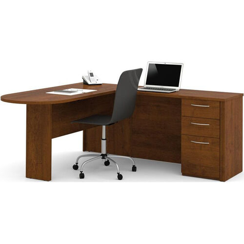 Our Embassy L-Shaped Workstation Kit with 2 Utility Drawers and 1 Filing Drawer - Tuscany Brown is on sale now.