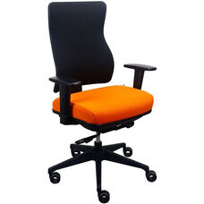 Tempur-Pedic® Spring Task Chair with Fabric Back - Nectarine