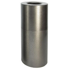 Aluminum Series 35 Gallon Two-Piece Aluminum Receptacle with Plastic Liner - Silver Vein Finish