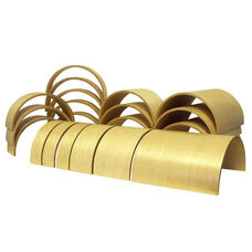Birch 20 Piece Tunnels and Arches Building Blocks Set - Four Different Widths