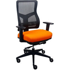 Tempur-Pedic® Spring Task Chair with Mesh Back - Nectarine