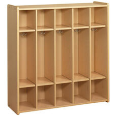 2000 Series 5 Preschool Size Compartment Lockers with Double Hooks
