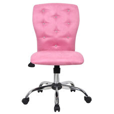 Tiffany Contemporary Microfiber Task Chair - Pink