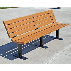 Contour Surface Mount 6' Recycled Plastic Bench with Steel Frame