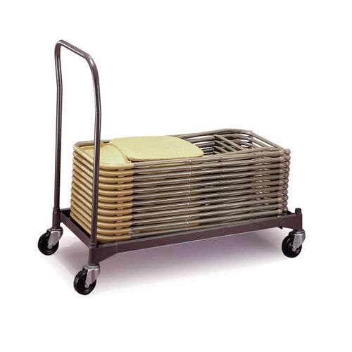Our Poly Chair Steel Powder Coat Caddy with Casters - 42