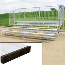 Standard Aluminum Bleachers with Fencing