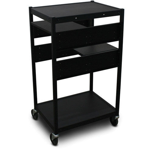 Our Vizion Spartan Series Classroom Media Projector Cart with Two Pull-Out Side-Shelves - Black is on sale now.