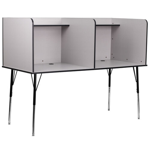 Our Double Wide Study Carrel with Adjustable Legs and Top Shelf is on sale now.