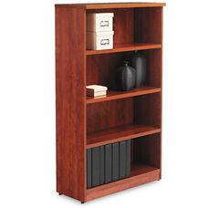 Alera® Valencia Series Bookcase - Four-Shelf - 31 3/4w x 14d x 55h - Medium Cherry