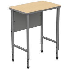 Apex Series Height Adjustable Stand Up Desk with PVC Edge - Sand Shoal Top with Gray Edge and Legs - 30