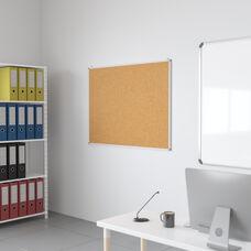 "HERCULES Series 47.25""W x 35.5""H Natural Cork Board with Aluminum Frame"