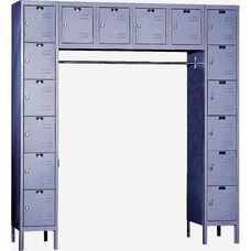 Premium Stock Box Locker Unassembled - 16 Person Unit - 72