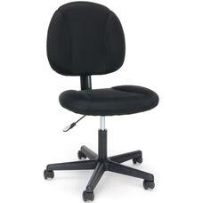 Essentials Swivel Upholstered Armless Task Chair - Black