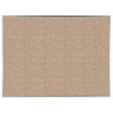 VIC Cork Bulletin Board with Satin Anodized Aluminum Frame - Buff - 36