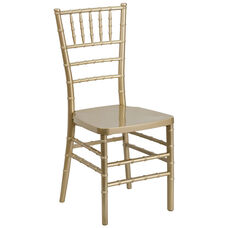 "HERCULES PREMIUM Series Gold Resin Stacking Chiavari Chair with <span style=""color:#0000CD;"">Free </span> Cushion"