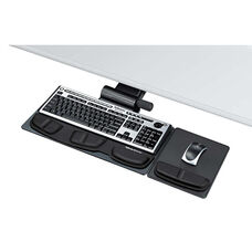 Fellowes® Professional Premier Series Adjustable Keyboard Tray - 19w x 10-5/8d - Black