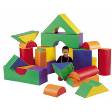 21 Piece Big Blocks Set - Multicolor