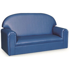 Just Like Home Toddler Size Overstuffed Vinyl Sofa - Blue - 34