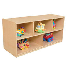 Mobile Healthy Kids Plywood Storage Unit with Casters - Assembled - 48