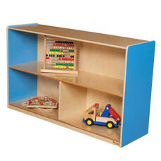 Blueberry Versatile Single Plywood UV Finished Storage Unit with Rolling Casters - Assembled - 48