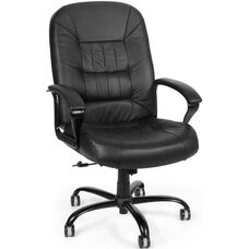 Big & Tall Leather Chair - Black