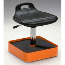 Tasq Tool Trolley and Caddy with Height Adjustable Cushioned Seat and Casters - Low Profile