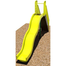 Powder Coat Paint Finished Steel Framed Bump Wave Slide with Safety Enhancing Closed Steps and Polyethylene Finished Slide - 36