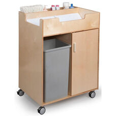 Budget Changing Table with End Access and Ample Space for Waste Basket