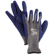 AnsellPro PowerFlex Gloves - Blue/Gray - Size 10 - 12 Pairs