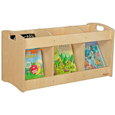 Wooden See-All Toddler Book Browser with Handles - 36