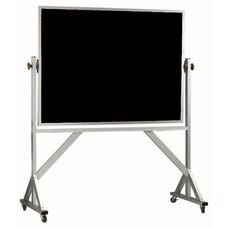 Reversible Free Standing Black Composition Chalkboard with Aluminum Frame
