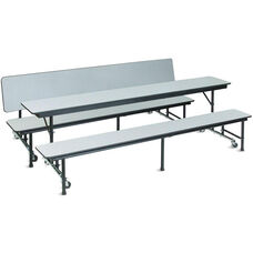 AdapTable™ Rectangular Convertible Cafeteria Table with Bench - 84