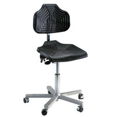 Brio 12 Series Height Adjustable Task Chair with Cushioned Seat and Star Base with Self-Braking Casters - Low Profile