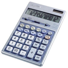Sharp 12 Digit Calculator -Dual Power -4 Key Memory -4 1/3