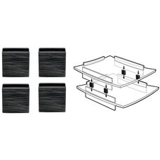 Acrylight Letter Tray Stacking Connectors - Set of 2 - Black
