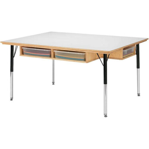 Adjustable Table with Storage 24