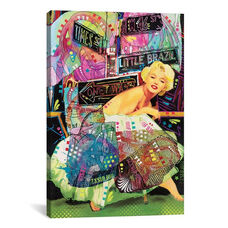 Marilyn In NYC - A Homage to Steve Kaufman by Dean Russo Gallery Wrapped Canvas Artwork