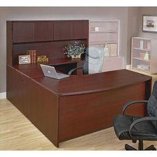 OSP Furniture Napa Scratch Resistant U-Shaped Desk with Hutch