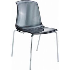 Allegra Polycarbonate Indoor Dining Chair - Transparent Clear